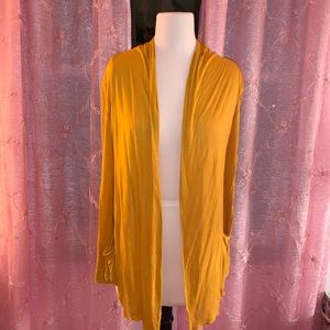 Simple Yellow Cardigan